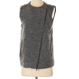 Club Monaco grey vest side zip sz xs & M